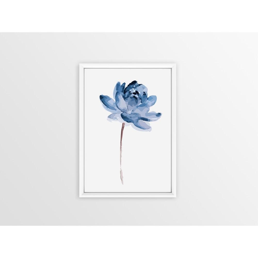 Nástěnný obraz v rámu Piacenza Art One Blue Flower, 23 x 33 cm