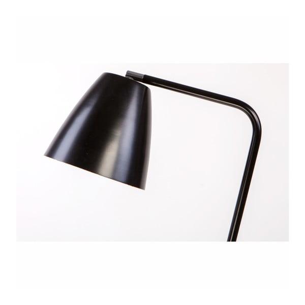 Černá kovová stojací lampa Nørdifra Omega