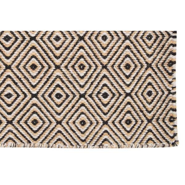 Vlněný koberec Dark Brown Pattern  Kilim, 150x215 cm
