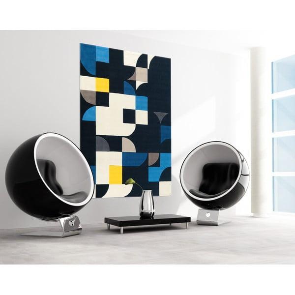 Ručně tkaný koberec Spirit Blue, 140x200 cm