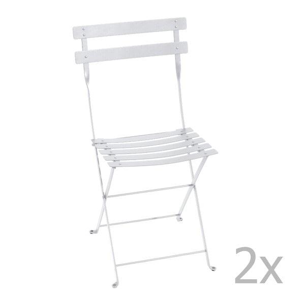Sada 2 bílých skládacích židlí Fermob Bistro