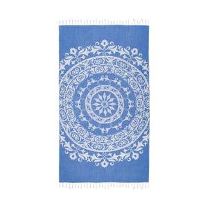 Prosop baie hammam Kate Louise Madalena, 165 x 100 cm, albastru