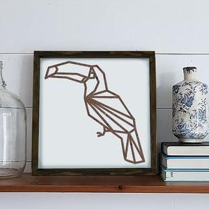 Zarámovaný obraz Dekorjinal Pouff Pelican, 33x33cm