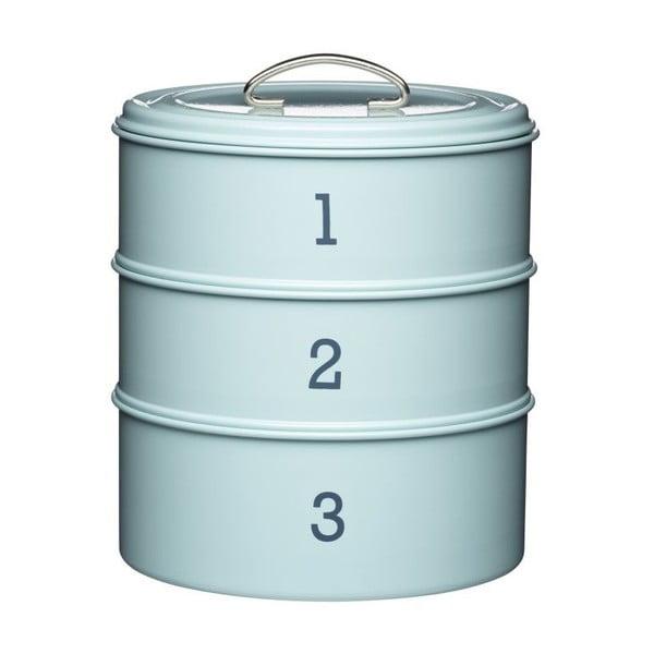 3-dielna plechová dóza v modrej farbe Kitchen Craft Nostalgia