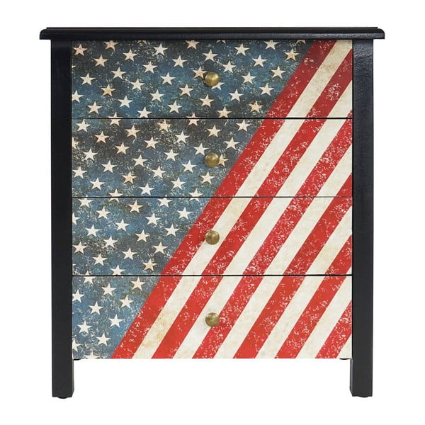 Komoda Lucan Stars and Stripes, 66x60x33 cm