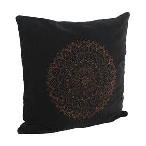 Sametový povlak na polštář Black & Bronze, 50x50 cm