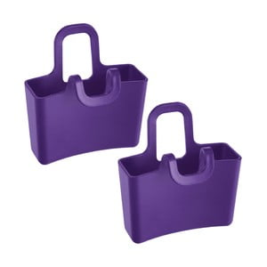 Sada 2 fialových úložných nádob Koziol