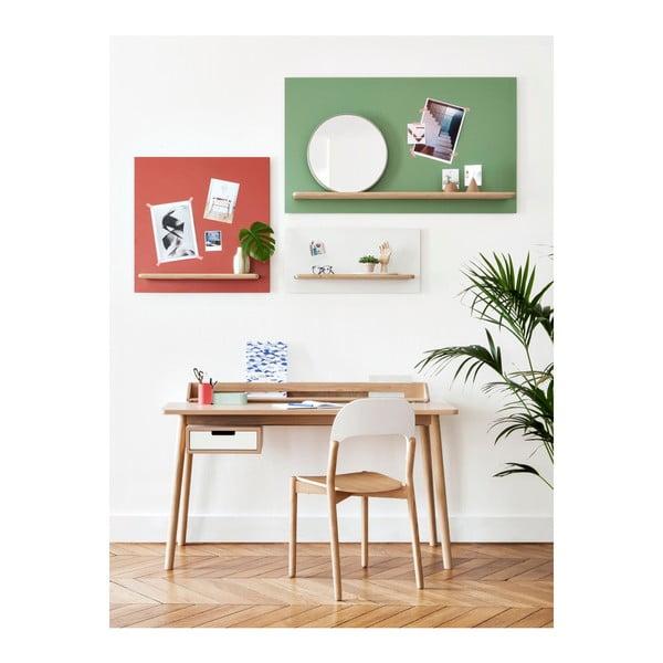 Pracovní stůl z dubového dřeva s bílou zásuvkou HARTÔ Honoré, 140x70cm