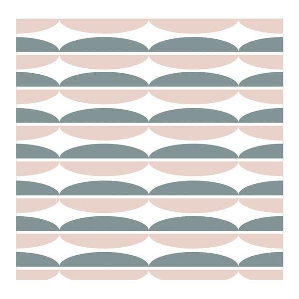 Tapeta Oval Pink/Grey