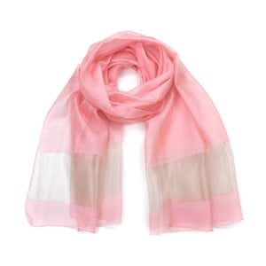 Světle růžový šátek Art of Polo Corrdia