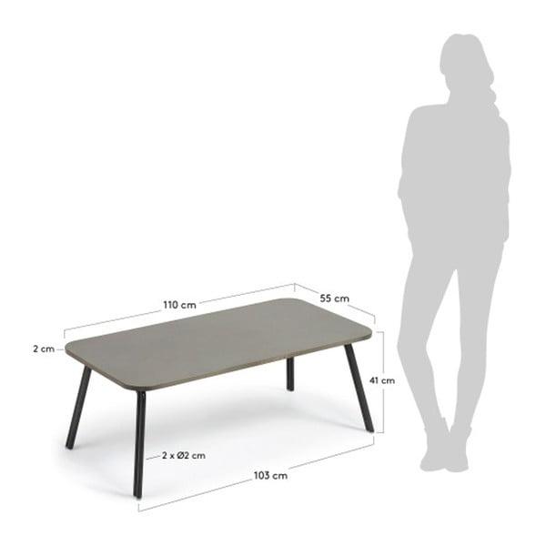 Šedý konferenční stolek La Forma Bernon