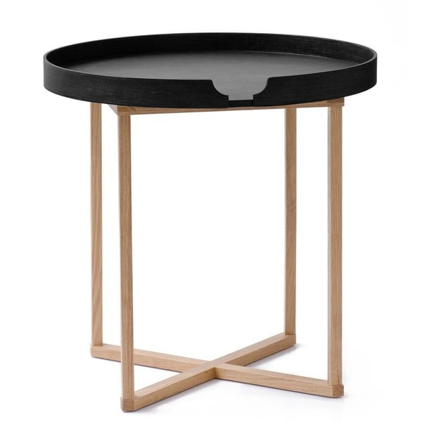 Černý odkládací stolek Wireworks Damieh, 45x45 cm