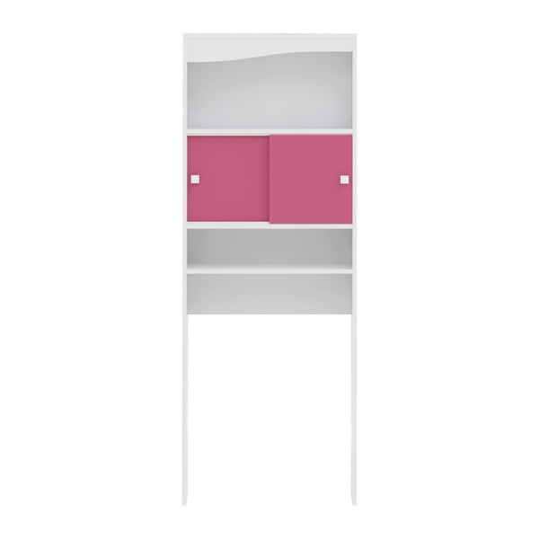 Růžová koupelnová skříňka nad pračku TemaHome Wave,šířka60cm