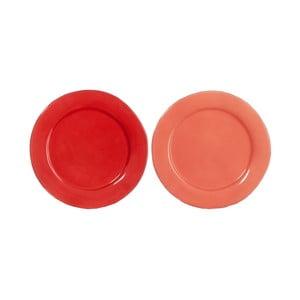Set talířů Coral 22x22x3 cm, 2 ks