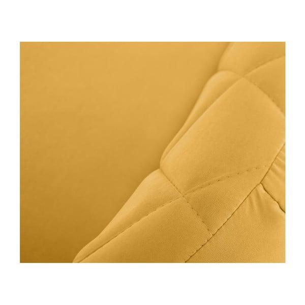 Canapea pentru 2 persoane Scandi by Stella Cadente Maison, galben muștar