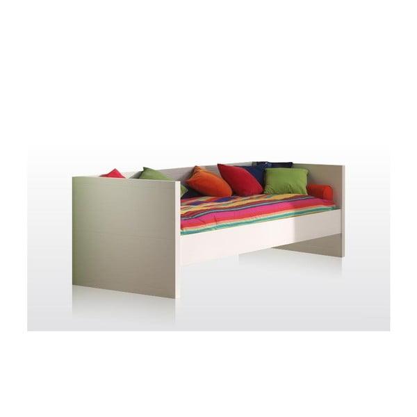 Białe łóżko Vipack Lara, 90x200 cm