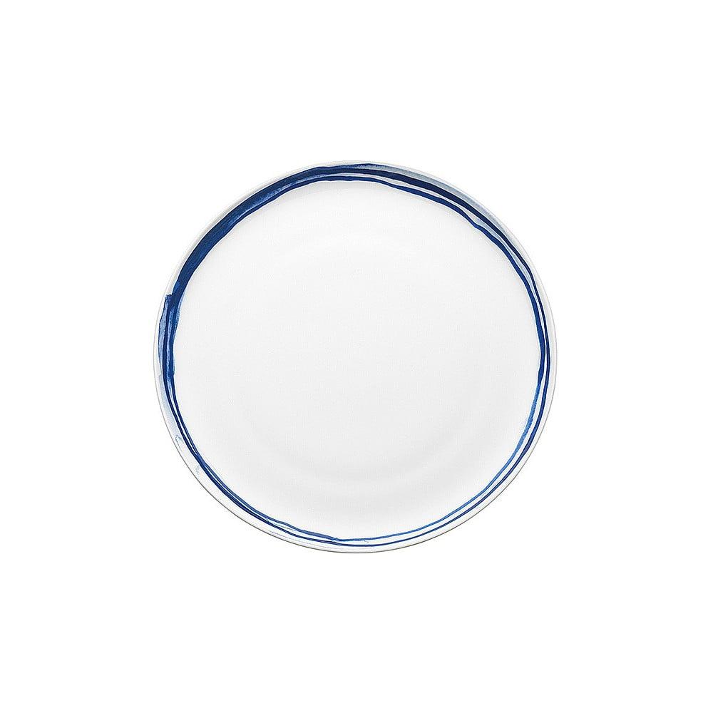 Bílomodrý porcelánový talíř Santiago Pons Line, ⌀ 27 cm