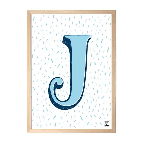 Plakát J od Karolíny Strykové