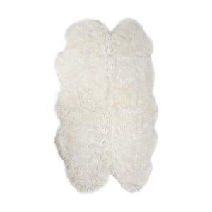 Bílý kožešinový koberec z ovčí kůže Arctic Fur Lago, 180 x 115 cm