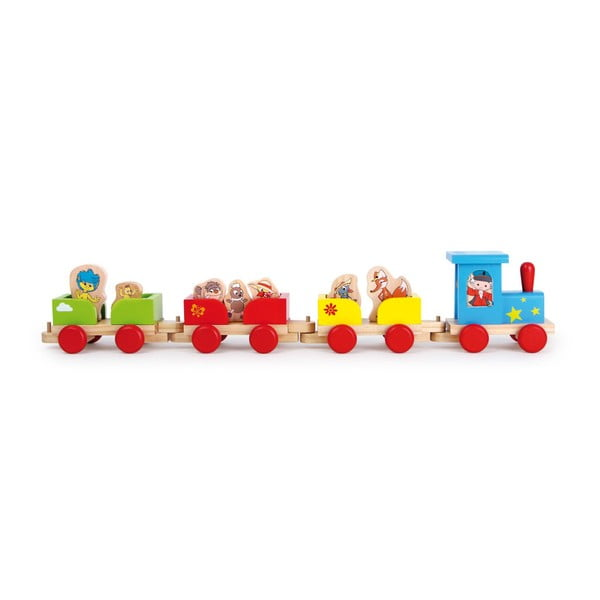 Tren din lemn cu figurine Legler Our Sandman