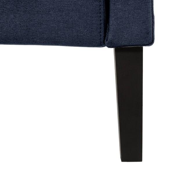 Tmavě modrá postel s černými nohami Vivonita Windsor,140x200cm