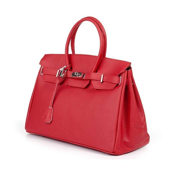 Kožená kabelka Bark Red
