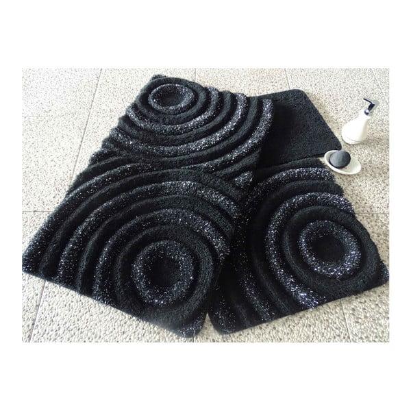 Zestaw 3 dywaników łazienkowych Wave