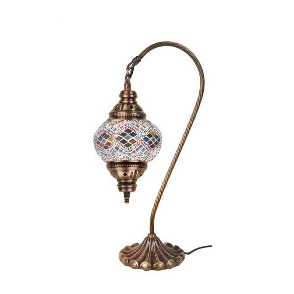 Skleněná ručně vyrobená lampa Fishing Crystal, ⌀13 cm