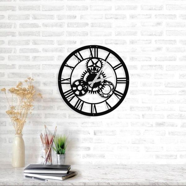 Černé nástěnné hodiny Davin Clock, ⌀ 48 cm