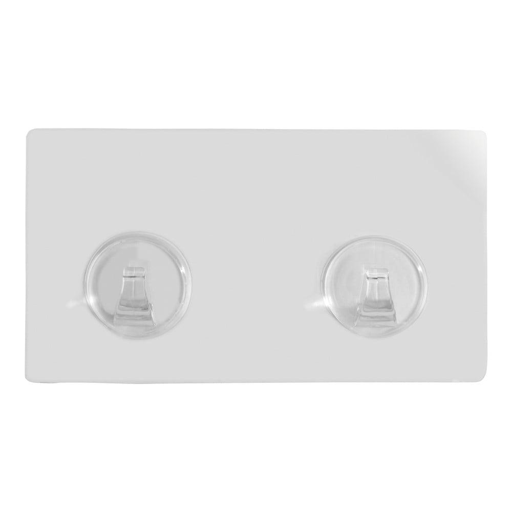 Produktové foto Sada 2 transparentních nástěnných háčků Wenko Static-Loc® Strip