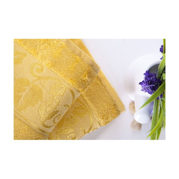 Set dvou ručníků Bamboo Yellow, 50x90 cm