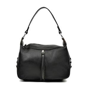 Černá kožená kabelka Carla Ferreri Mirana
