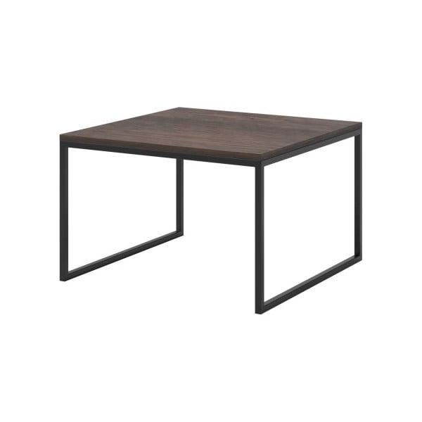 Hnědý konferenční stolek s černými nohami MESONICA Eco, 70 x 45 cm