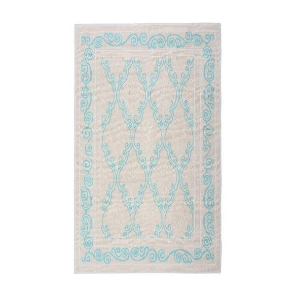 Tyrkysový bavlněný koberec Floorist Kijakazi, 100x200cm