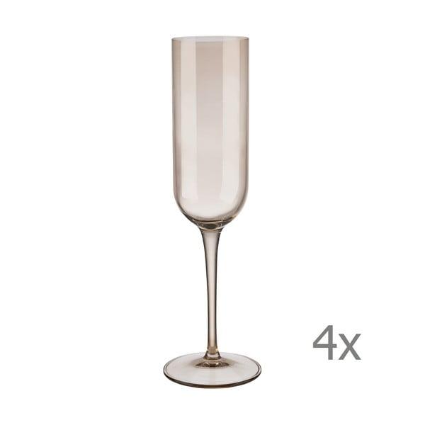 Sada 4 hnedých pohárov na šampanské Blomus Mira, 210 ml