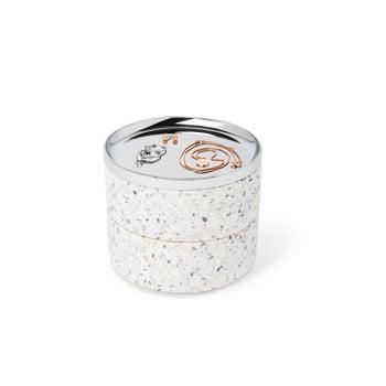 Cutie pentru bijuterii și capac argintiu Umbra Tesora imagine