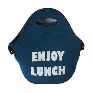 Modrá svačinová taška Bergner Cube
