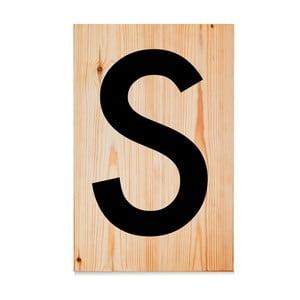 Dřevěná cedule Letters S