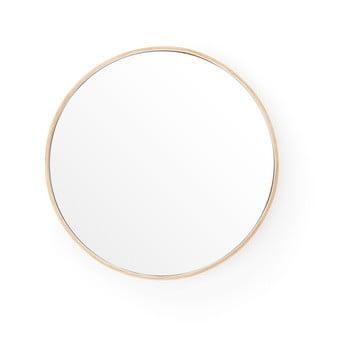 Oglindă de perete cu ramă din lemn de stejar Wireworks Glance, ⌀31 cm de la Wireworks