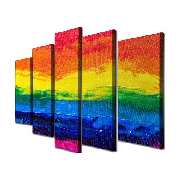 Colorful Sunset 5 részes vászon fali kép