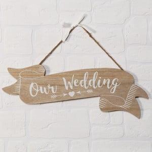 Nástěnná dekorace Celebrations Love Story Our Wedding
