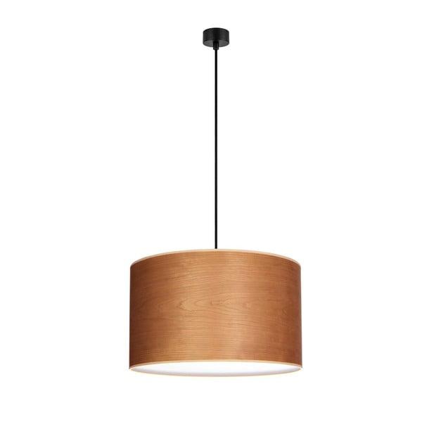 Stropné svietidlo v hnedej prírodnej farbe s čiernym káblom Sotto Luce Tsuri
