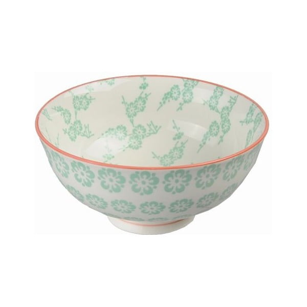 Porcelánová miska Rice Green, 12x5,6 cm