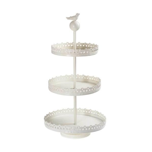 Trojitý stojan na dortíky White