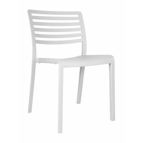 Sada 2 bílých zahradních židlí Resol Lama