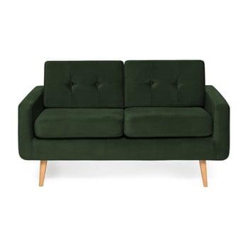 Canapea cu 2 locuri Vivonita Ina Trend, verde închis de la Vivonita