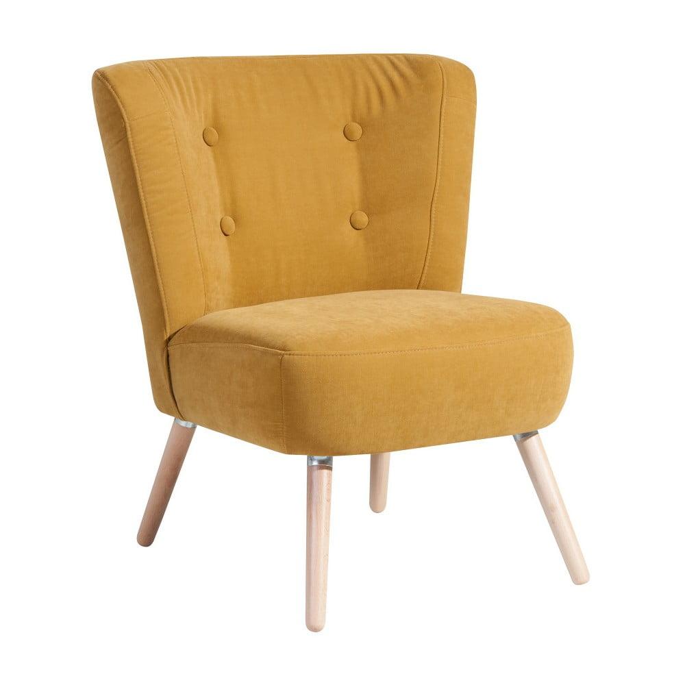 fotoliu max winzer neele velor galben bonami. Black Bedroom Furniture Sets. Home Design Ideas