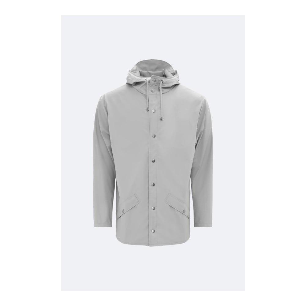 Šedá unisex bunda s vysokou voděodolností Rains Jacket, velikost XS/S