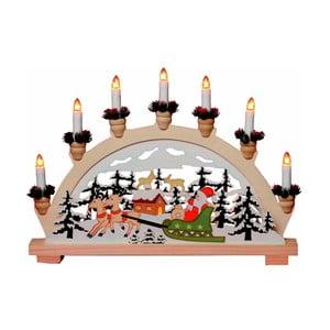 Svítící dekorace Santa Sledge