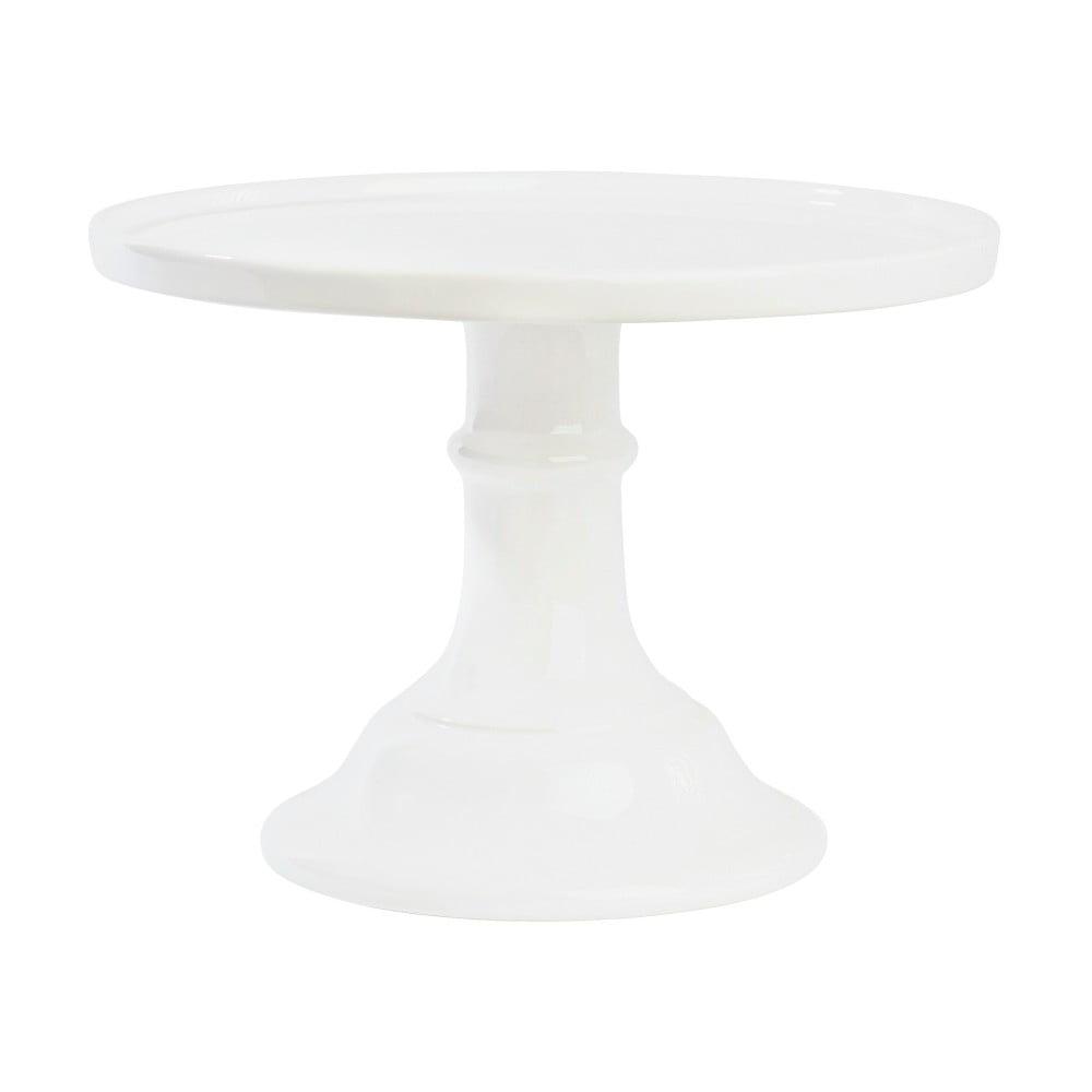 Bílý keramický podnos na dort Miss Étoile, ø 25 cm